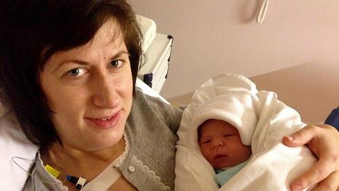 Monika Trávníčková s novorozeným synem