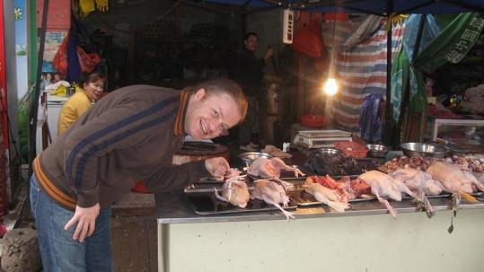 Šporcl se v Číně zaměřil na místní gastronomii.