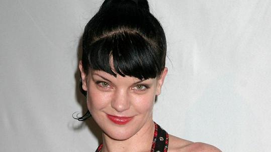 Sympatická herečka Pauley Perrette alias Abby z NCIS.