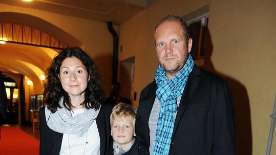 Martha Issová s Davidem Ondříčkem a jeho synem z prvního manželství