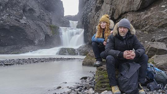 Jiří Langmajer a Martina Babišová natáčeli film na Islandu.