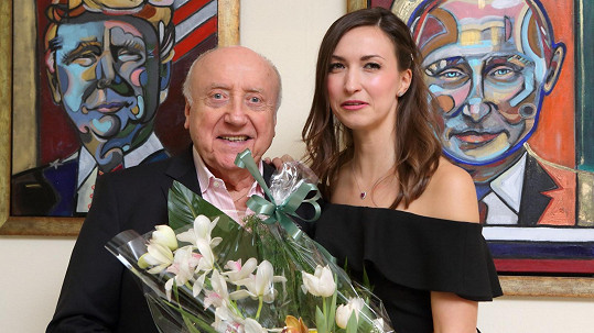 Lucie Gelemová uspořádala vernisáž svých obrazů.