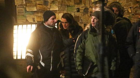 Keira Knightley natáčí v Praze film.