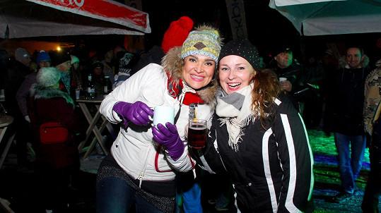 Markéta Hrubešová i Mahulena Bočanová se do lyžařského líčí minimálně.