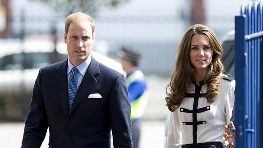 Princ William a jeho choť Catherine.