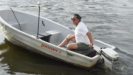 Richard Genzer na své lodičce