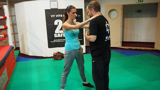 Veronika se svým trenérem