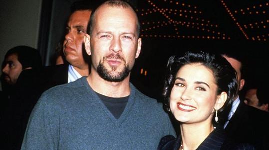 Demi Moore s exmanželem Brucem Willisem