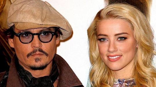 Johnny Depp se svou partnerkou Amber Heard.