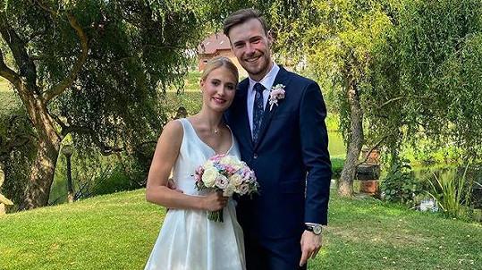 Tanečník Dominik Vodička s novomanželkou Eliškou