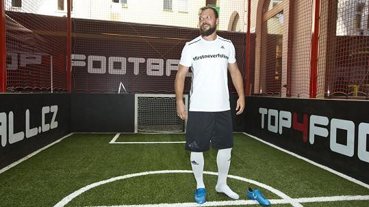 Fotbalista v akci