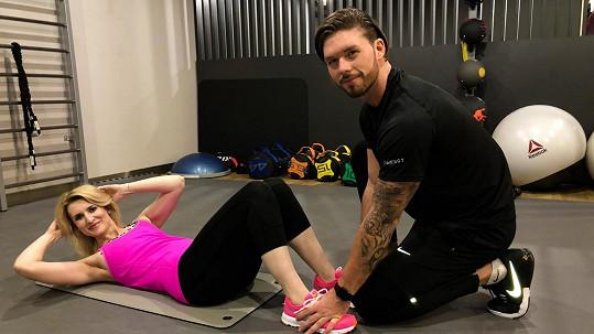 Lenka Špillarová si po rozchodu dala předsevzetí začít cvičit.