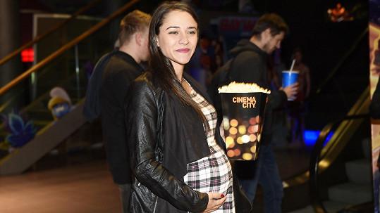 Eva Burešová na poslední fotce před porodem