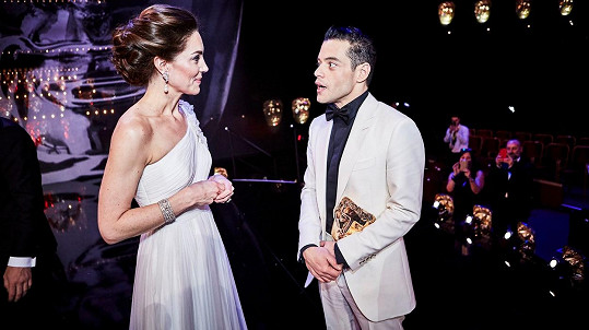 Rami Malek a vévodkyně Kate