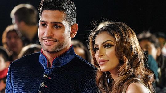 Amir Khan s manželkou Faryl