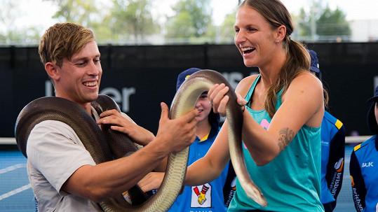 Po turnaji čekalo Karolínu Plíškovou velmi netradiční setkání s australskou faunou.