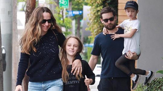 Tobey Maguire s rodinou