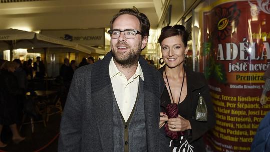 Ondřej Brousek s manželkou Annou Remkovou