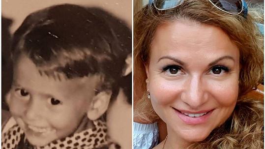 Herečka sdílela fotku z dětství.