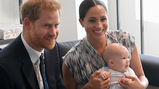 Vévoda a vévodkyně ze Sussexu se synem Archiem