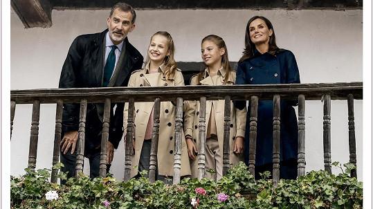 Vánoční přání španělské královské rodiny