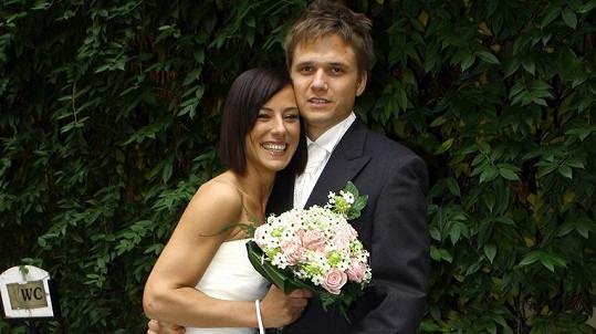 Ondřej Brzobohatý s první manželkou Johanou