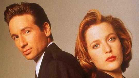 David Duchovny a Gillian Anderson v seriálu Akta X
