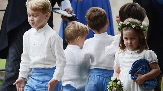 George a Charlotte zpestřili svatbu.