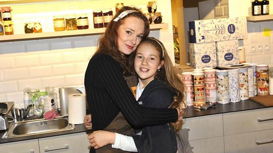 Markéta Hrubešová s dcerou Christell