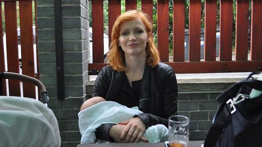 Aňa Geislerová se synem Maxem