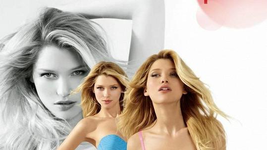 Hana v reklamě na spodní prádlo.