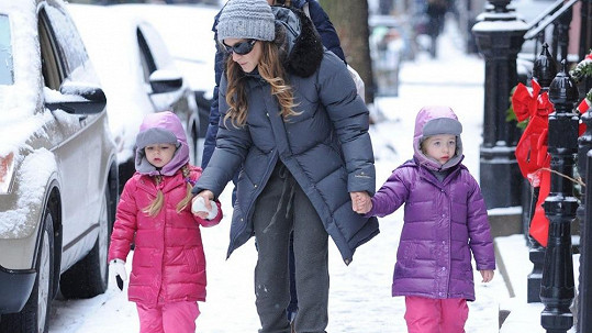 Sarah Jessica Parker a její dcerky Marion a Tabitha