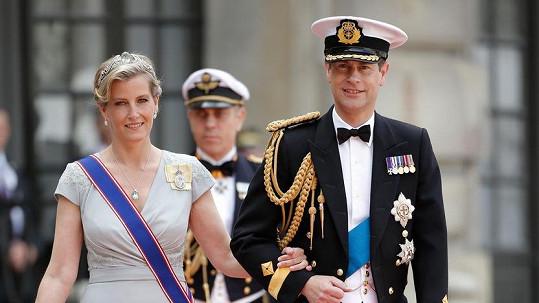Hraběnka Sophie s manželem Edwardem. Šaty jí šila Táňa Kovaříková.