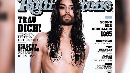 Červencový Rolling Stone s Conchitou na titulce