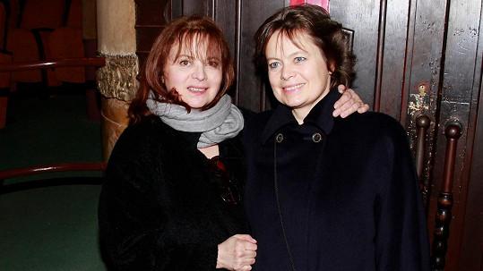 Libuše Šafránková se sestrou Miroslavou Šafránkovou (2013)