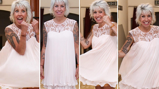 Marcela Březinová se krátkých šatů nebojí.