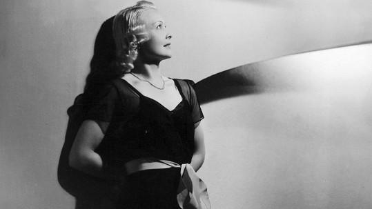 Nejtajemnější prvorepubliková star Truda Grosslichtová na fotce z doby, kdy už v českých filmech nehrála.