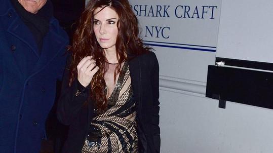 Sandra Bullock v New Yorku