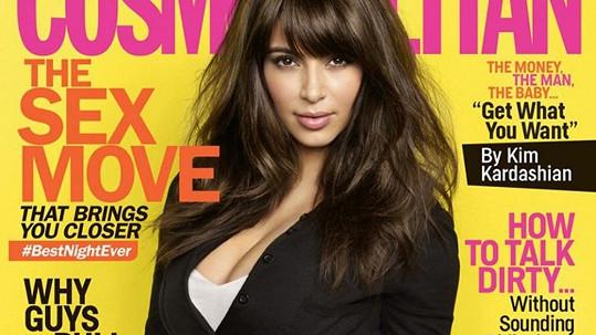 Kim Kardashian znovu na obálce Cosmopolitanu.