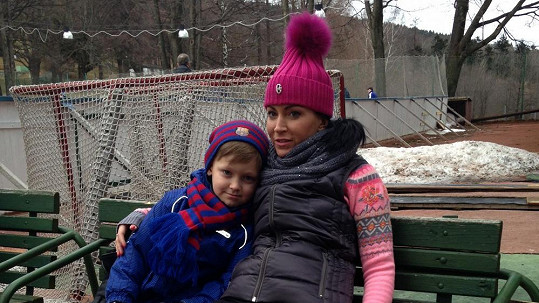 Gabriela Partyšová se synem Kristianem