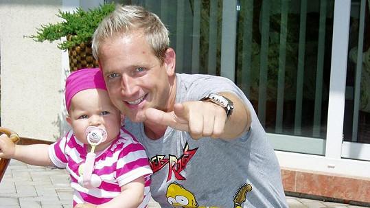 Martin Kocián s dcerou.