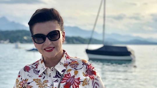 Dana Morávková tráví dovolenou v rakouských Korutanech.