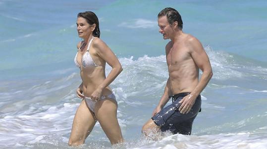 Cindy Crawford s manželem na ostrově Svatý Bartoloměj
