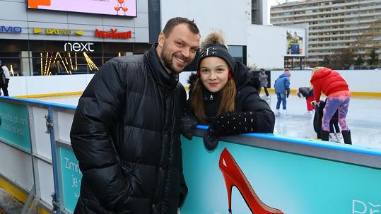 Tomáš Ujfaluši s dcerou Kačenkou