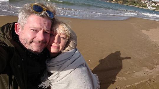Aleš Háma s manželkou
