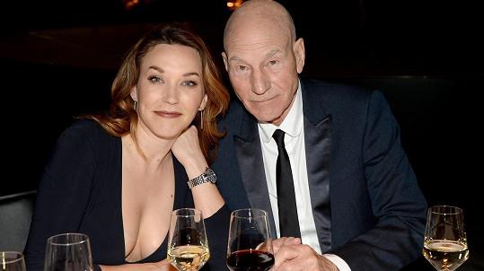 Patrick Stewart s manželkou Sunny Ozell
