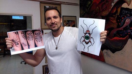 Radim Schwab a jeho návrhy na tetování