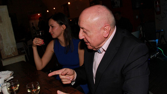 Felix Slováček se svou múzou Lucií Gelemovou