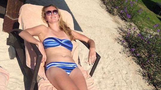 Petra Kvitová na pláži