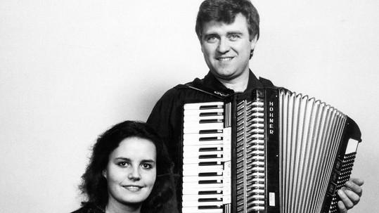 Eva a Vašek na svém prvním vystoupení v Rakousku.